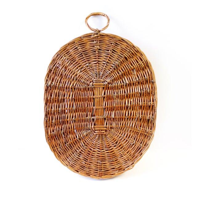Vintage Boho Wicker Basket Shelf - Image 4 of 4