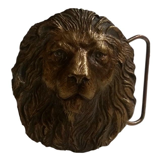 Vintage Lion's Head Belt Buckle - Image 1 of 4
