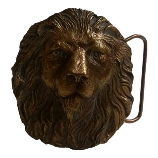 Vintage Lion's Head Belt Buckle