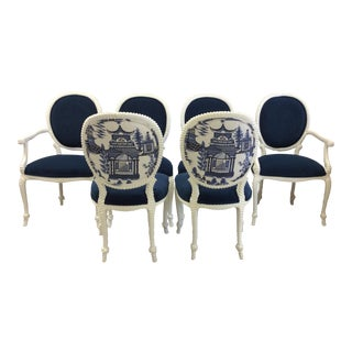 Schumacher Upholstery Rope & Tassel Chairs - Set of 6