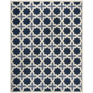 Safavieh Moroccan Blue & Ivory Wool Area Rug - 8' X 10'