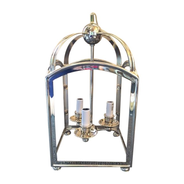 Visual Comfort Arch Top Mini Lantern in Nickel - Image 1 of 7