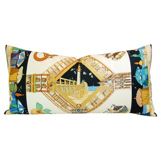 "Hermes ""Loïc Dubigeon"" Nautical Pillow"