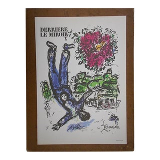 Vintage Marc Chagall Lithograph-Folio Size-c.1966