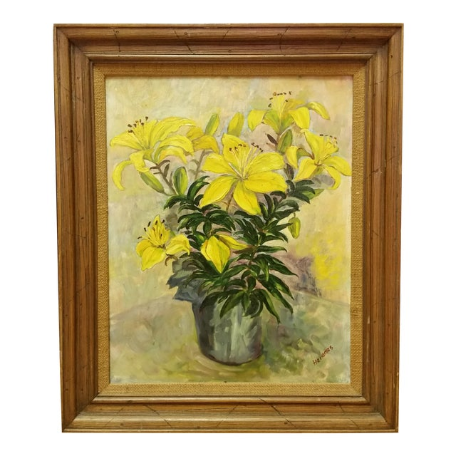 Image of Mid-Century Oil Still Life Painting