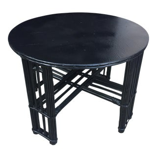 Antique Black Bamboo Coffee Table