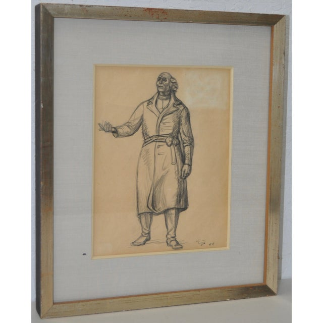 Image of Francisco Zuniga (1912-1998) Original Pen & Ink