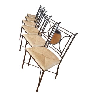 Charleston Forge Blackberry Road Wrought Iron Chairs - Set of 6