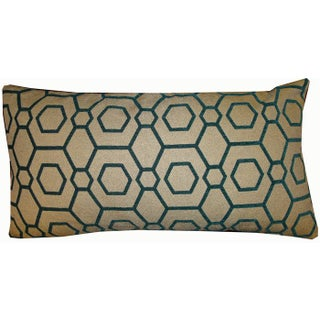 Green Graphic Down Bolster Pillow