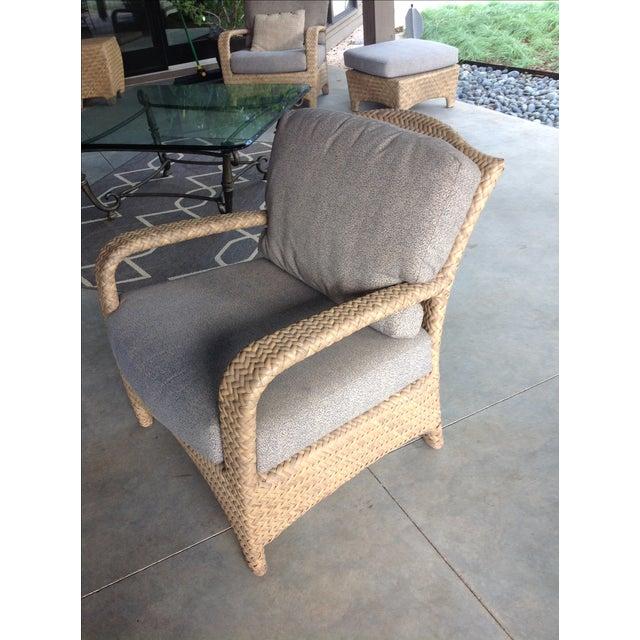 Brown jordan outdoor patio chair chairish for Brown jordan lawn furniture