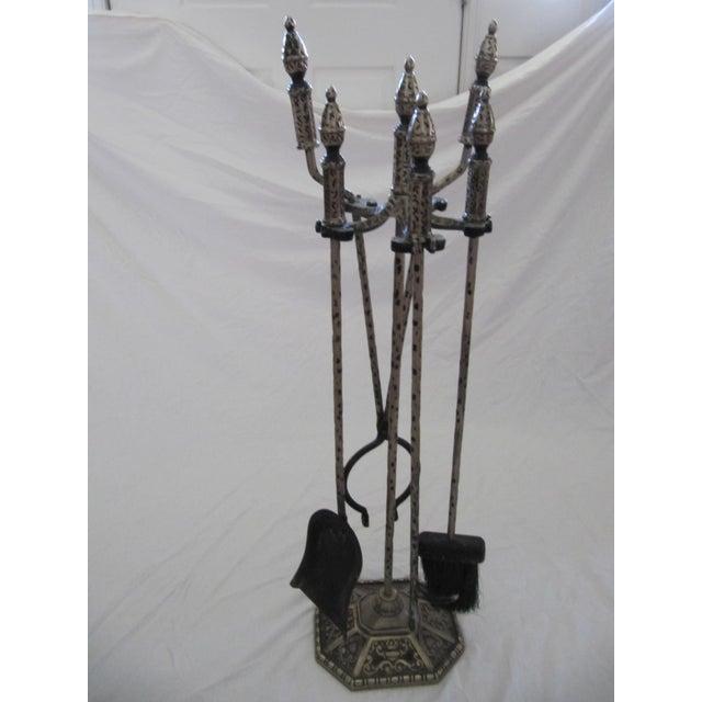 Iron Fireplace Tool Set - 5 Pieces - Image 5 of 6