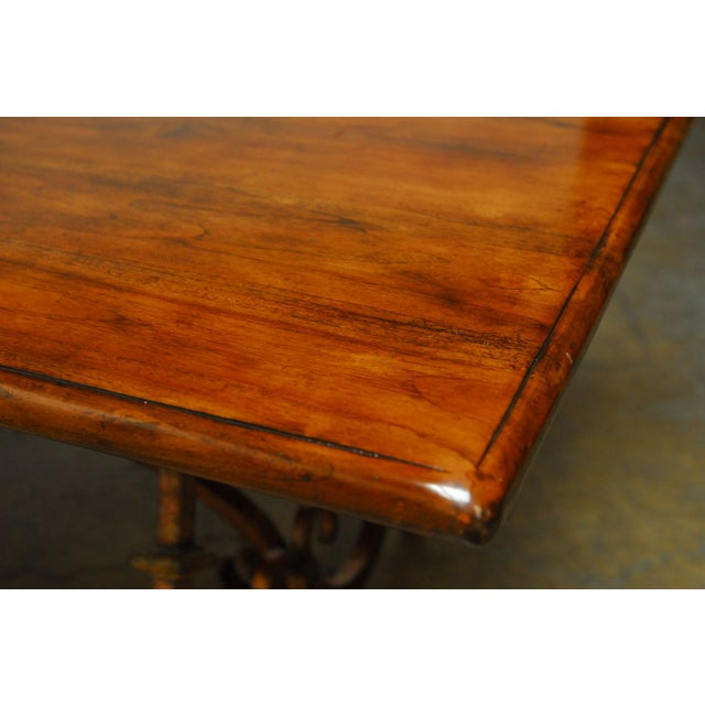 Spanish Colonial Wrought Iron Trestle Table Chairish