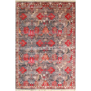 Picasso Soft Turkish Red Rug - 5′ × 7′7″