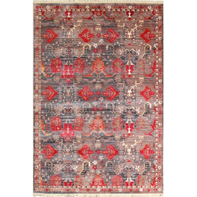 Picasso Soft Turkish Red Rug - 5′ × 7′7″ - Image 1 of 5