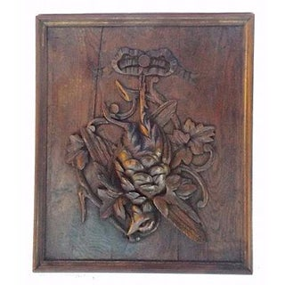 Antique Hanging Nature Morte Hunt Plaque