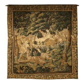 Documented French Handmade Aubusson Tapestry, circa 1650s