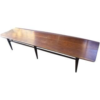 Vintage Bassett Walnut Surfboard Coffee Table