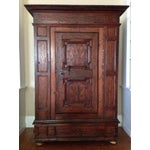 Image of 19th C. Gothic Renaissance Style Ornate Carved Cabinet