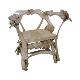 Bob Burns Style Animal Bone Arm Chair