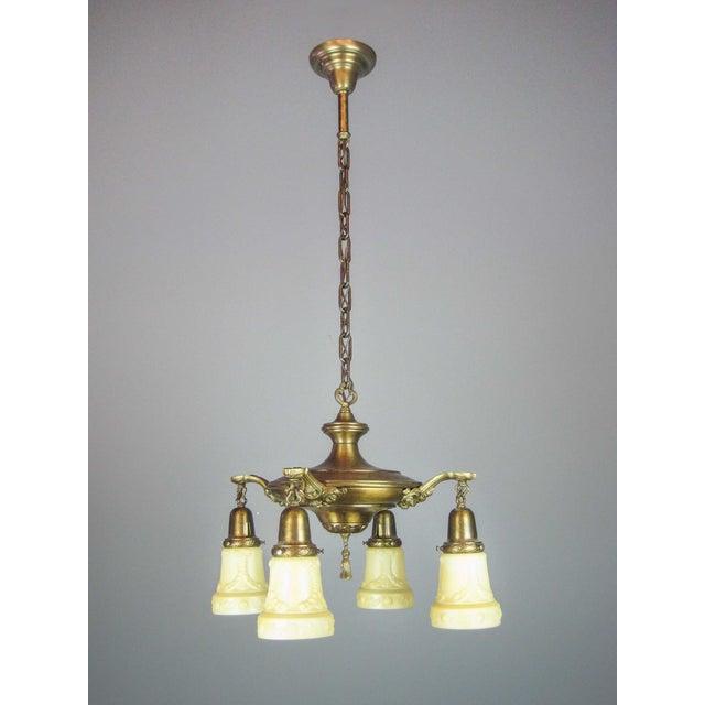 Embossed Original Pan Light Fixture (4-Light) - Image 2 of 9