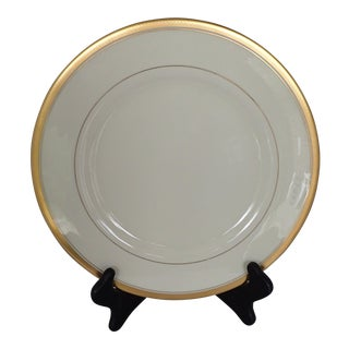 Elegant Fine China Gold Rim & Ivory Charger/Dinner Plate