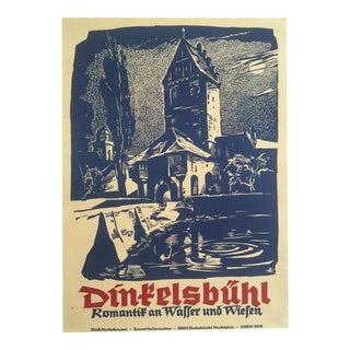 Vintage Original German Graphic Arts Print