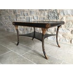 Image of Nancy Corzine Neoclassical Black Coffee Table