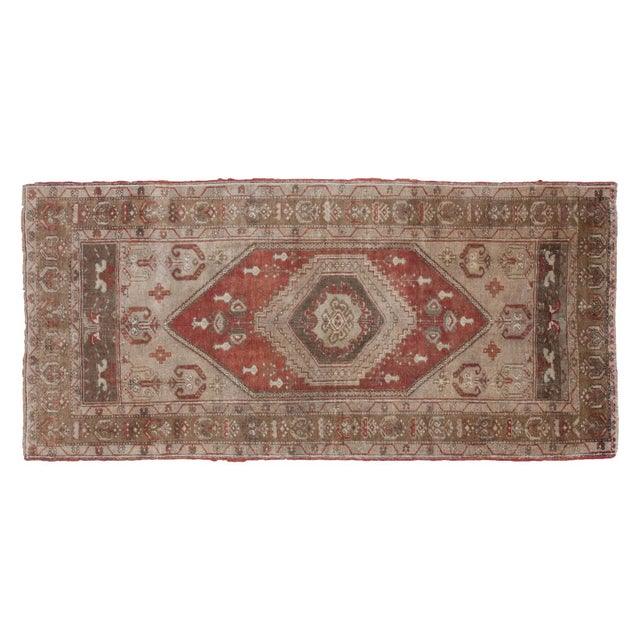"""Image of Vintage Rust Colored Oushak Runner - 3'9"""" x 7'9"""""""