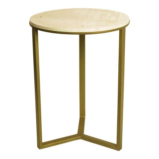 Mid-Century Style Travertine Top Table