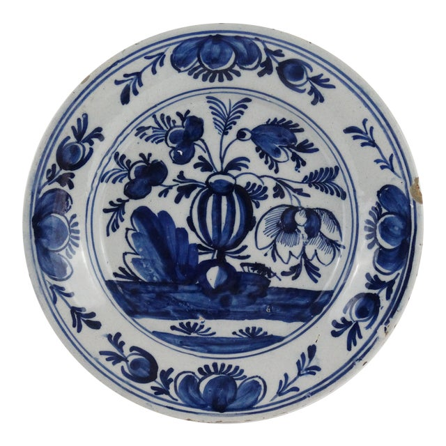 18th Century Dutch Delft Plate - Image 1 of 7