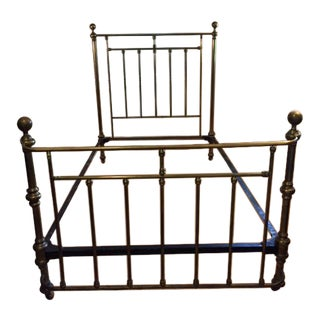 Circa 1880 Antique Brass Bed