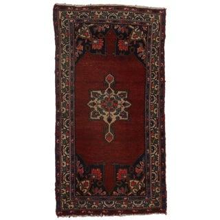 "Hand Knotted Wool Persian Hamedan Rug- 3'1"" X 6'5"""