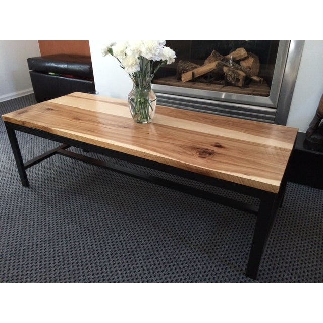 Reclaimed Wood Coffee Table Chicago: Reclaimed Hickory Wood Top Coffee Table