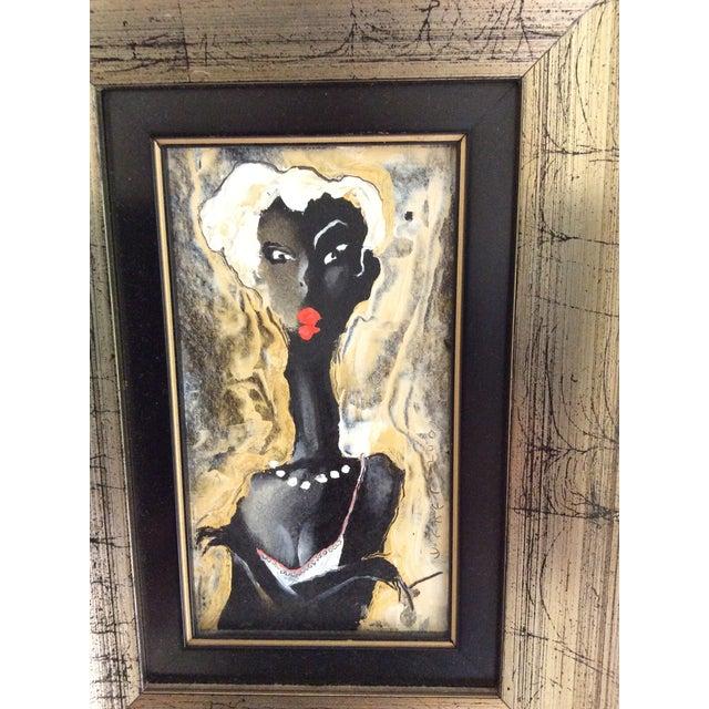 Viktor Sheleg Night Girl Oil Signed Original - Image 5 of 5