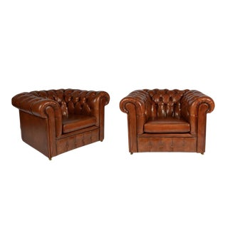 Pair of Chesterfield Club Chairs