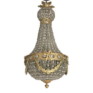 Empire Chandelier With Brass Detail
