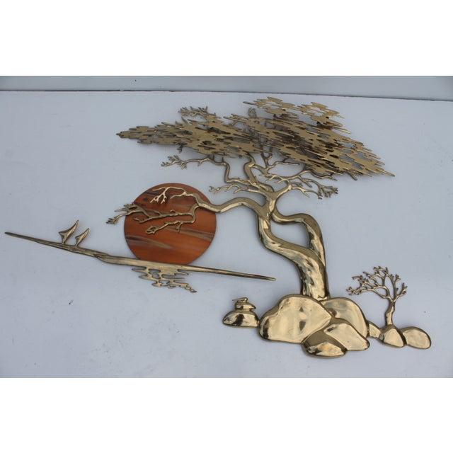 Bijan Solid Brass Wall Sculpture - Image 9 of 10