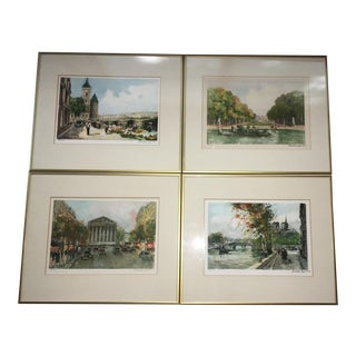 Charles Moudin Paris Street Scene Lithographs - S/4