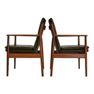 Arne Vodder 1950s Teak and Leather Armchair for Sibast, Denmark