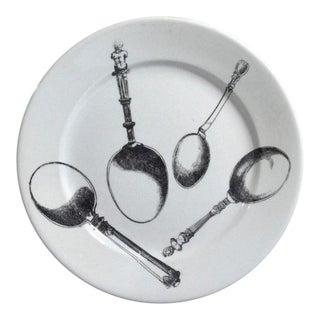 Piero Fornasetti Pottery Plates in Renaissance Flatware Pattern