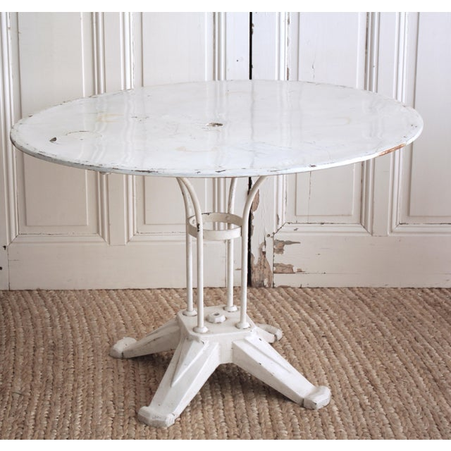 Image of Vintage Cast Iron Bistro Table
