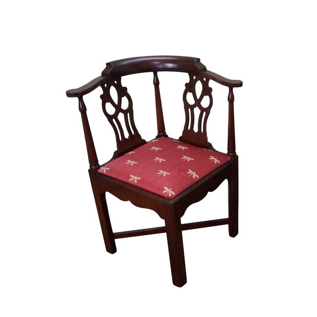 Quality Mahogany Chippendale Corner Arm Chair - Image 1 of 10