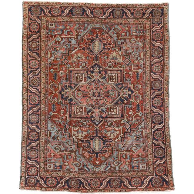 """Antique Persian Heriz Rug - 8' x 10'1"""" - Image 1 of 7"""