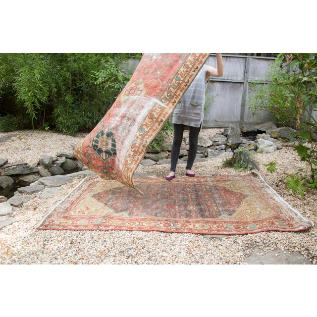 """Antique Malayer Rug - 4'1"""" x 6'7"""" - Image 8 of 10"""