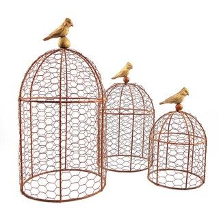 Decorative Wire Garden Cloches - Set of Three