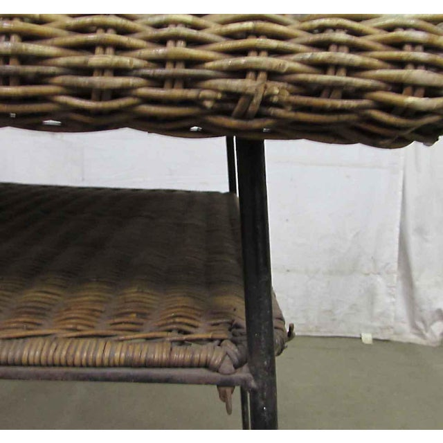 Antique Wicker Desk With Metal Legs - Image 8 of 8 - Antique Wicker Desk With Metal Legs Chairish