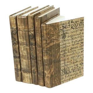 Antique Script Gold Books - Set of 5