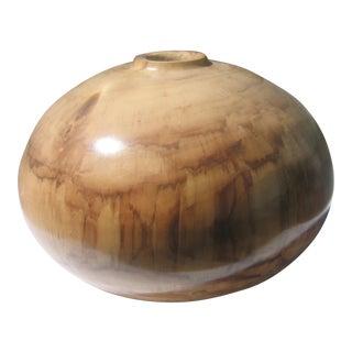 Turned Cottonwood Vase