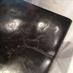 Image of Antique Solid Iron Wood Accent Seat/Table