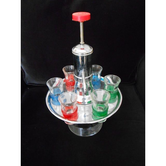 Vintage Pump Decanter With Shot Glasses - Image 2 of 4